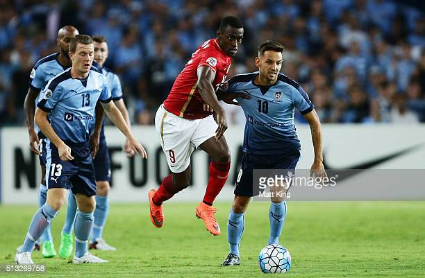 Jackson Martinez of Guangzhou Evergrande controls the ball during the AFC Champions League match between Sydney FC and Guangzhou Evergrande FC at...