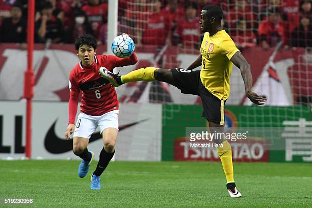 Jackson Martinez of Guangzhou Evergrande in action during the AFC Champions League Group H match between Urawa Red Diamonds and Guangzhou Evergrande...