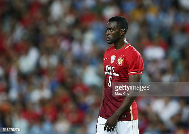 Jackson Martinez of Guangzhou Evergrande looks on during the AFC Champions League match between Sydney FC and Guangzhou Evergrande FC at Allianz...