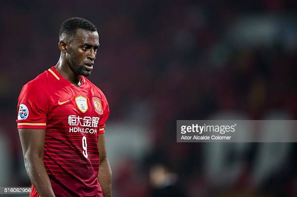 Jackson Martinez of Guangzhou Evergrande looks on during the AFC CHampions League match between Guangzhou Evergrande and Urawa Red Diamonds on March...
