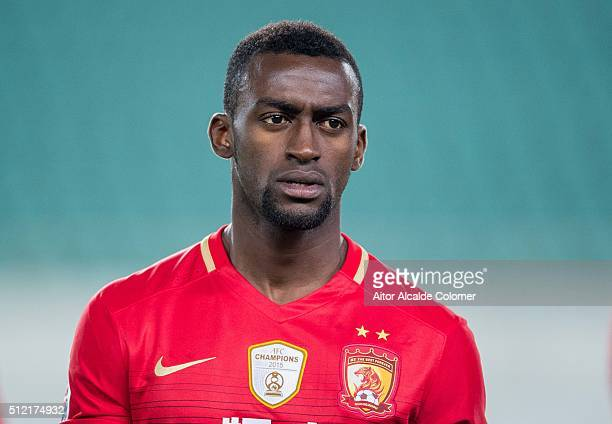 Jackson Martinez of Guangzhou Evergrande looks on during the Guangzhou Evergrande FC v Pohang Steelers match as part of the AFC Champions League 2016...