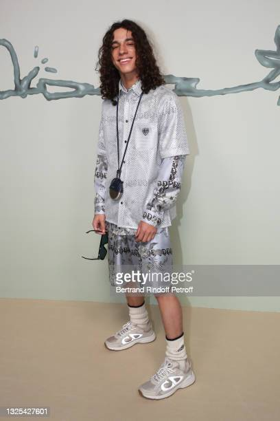 Jackson Myles Chavis attends the Dior Homme Menswear Spring Summer 2022 show as part of Paris Fashion Week on June 25, 2021 in Paris, France.