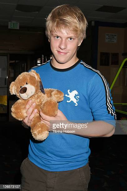 Jackson Odell attends the Starlight Children's Foundation's celebrity bowling event on September 25 2011 in Cerritos California