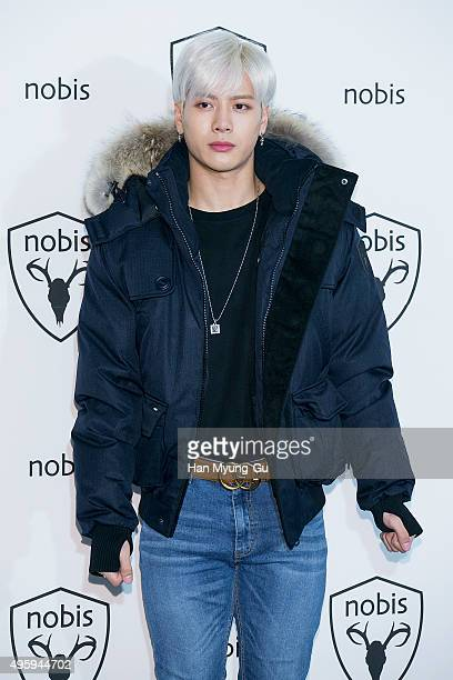 Jackson of Boy band GOT7 attends the photocall for the 'Nobis' 2015 F/W Collection at Dress Garden on November 5 2015 in Seoul South Korea