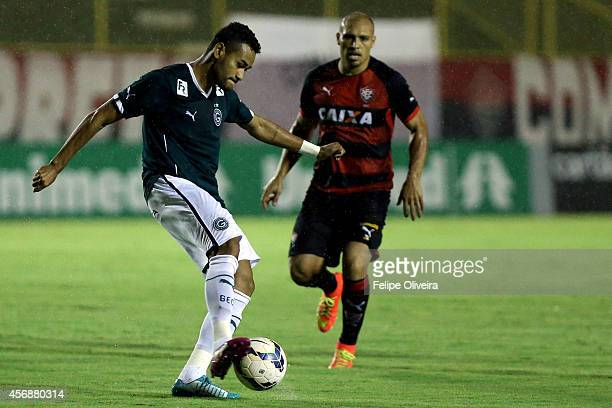 Jackson of Goias in action during the match between Vitoria and Goias as part of Brasileirao Series A 2014 at Estadio Manoel Barradas on October 8...
