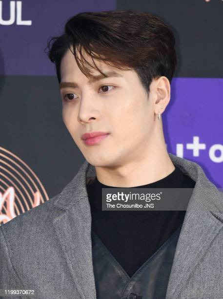 Jackson of GOT7 arrives at the photocall for the 34th Golden Disc Awards on January 05, 2020 in Seoul, South Korea.