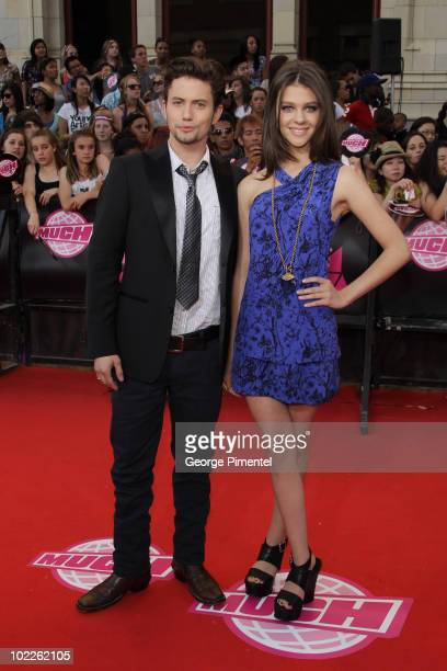 Jackson Rathbone and Nicola Peltz arrives on the red carpet of the 21st Annual MuchMusic Video Awards at the MuchMusic HQ on June 20 2010 in Toronto...