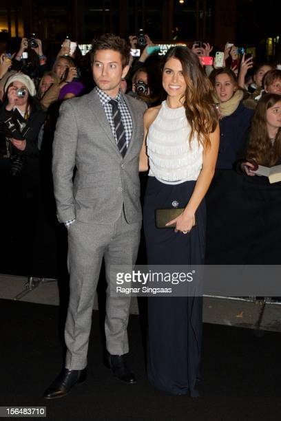 Jackson Rathbone and Nikki Reed attend the Norway Premiere of The Twilight Saga Breaking Dawn Part 2 at Colosseum on November 15 2012 in Oslo Norway