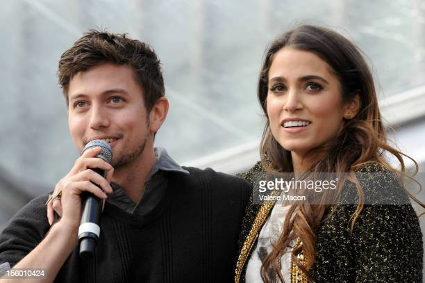Jackson Rathbone and Nikki Reed attends 'The Twilight Saga Breaking Dawn Part 2' Fan Camp Concert at Nokia Theatre LA Live on November 10 2012 in Los...
