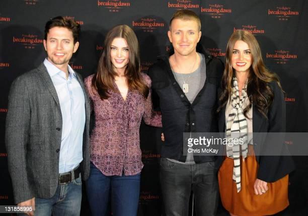 Jackson Rathbone Ashley Greene Charlie Bewley and Nikki Reed attend The Twilight Saga Breaking Dawn Part 1 Concert Tour at the Buckhead Theatre on...