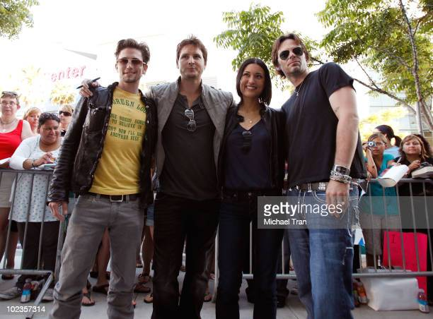 Jackson Rathbone Peter Facinelli Julia Jones and Billy Burke attend the Eclipse fan frenzy held at Nokia Plaza LA LIVE on June 23 2010 in Los Angeles...