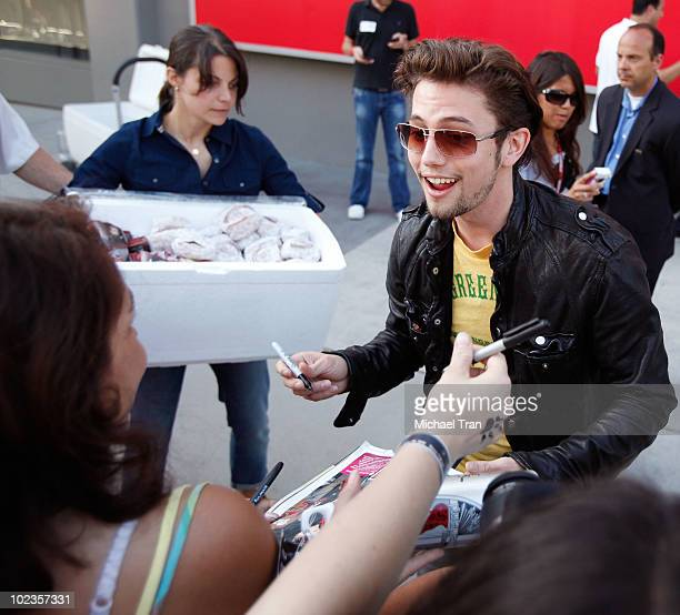 Jackson Rathbone with his fans at the Eclipse fan frenzy held at Nokia Plaza LA LIVE on June 23 2010 in Los Angeles California