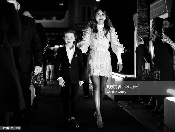 Jackson Robert Scott and Emilia Jones attend the Locke Key Los Angeles Premiere at the Egyptian Theatre on February 05 2020 in Hollywood California