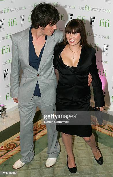 Jackson Scott and Sadie Frost attend the UK FiFi Awards at The Dorchester on April 25 2005 in London England The awards mirror the International FiFi...
