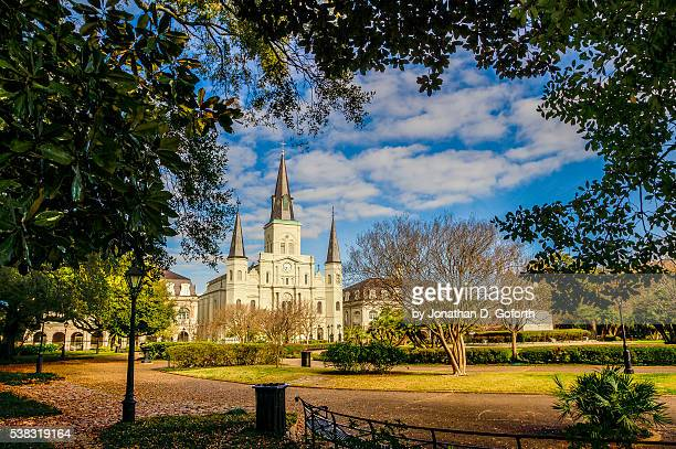 jackson square - new orleans french quarter stock photos and pictures