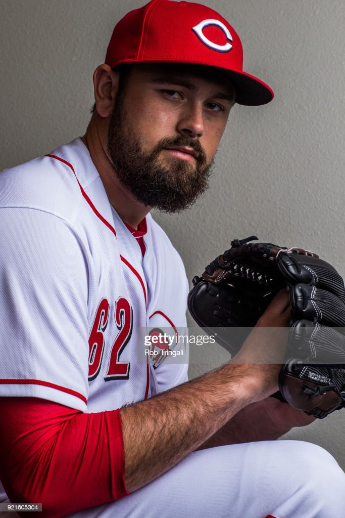 Jackson Stephens #62 of the Cincinnati Reds poses for a portrait at the Cincinnati Reds Player Development Complex on February 20, 2018 in Goodyear, Arizona.