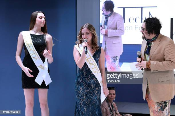 Jackson Sturkey speaks onstage wearing MM Milano Couture during NYFW Powered By hiTechMODA on February 08, 2020 in New York City.