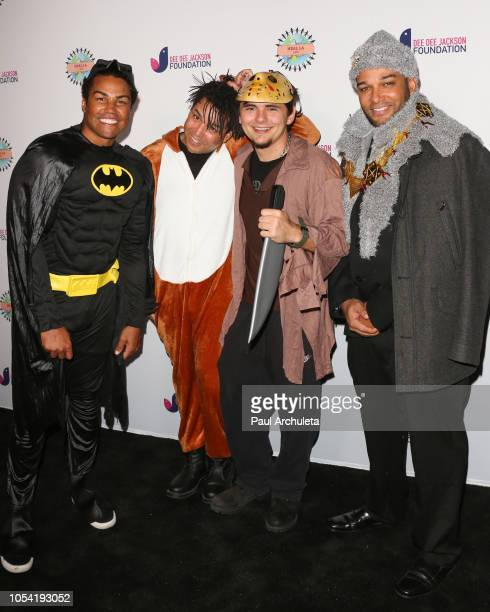 Jackson Taj Jackson Prince Jackson and Taryll Jackson attend the 3rd annual Dee Dee Jackson Foundation's Costume For A Cause at Jackson Family Home...