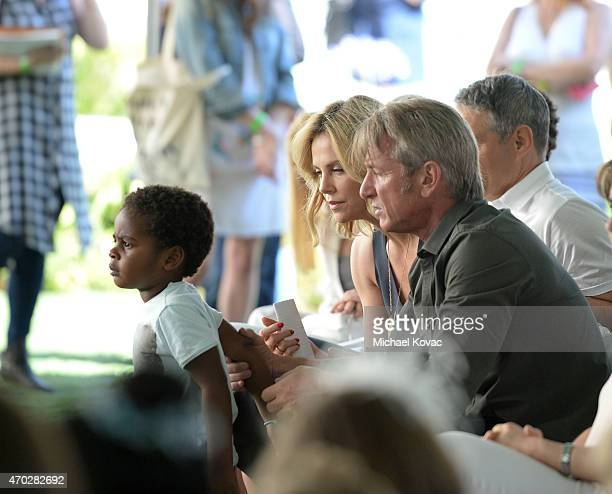 Jackson Theron actress Charlize Theron and actor Sean Penn attend the Points of Light generationOn Block Party on April 18 2015 in Los Angeles...