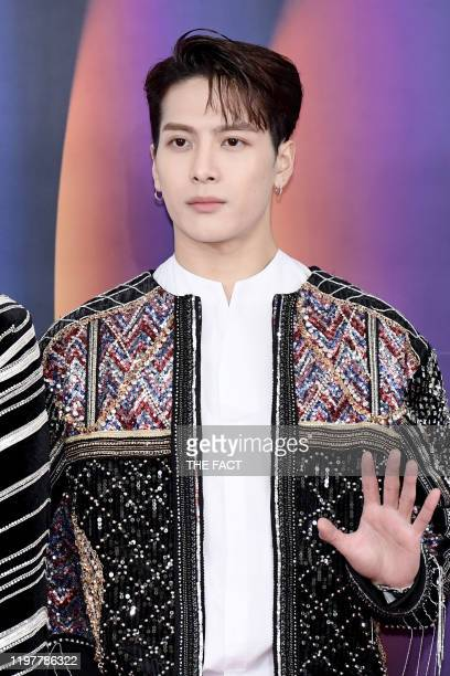 Jackson Wang of GOT7 attends 2019 SBS Gayo Daejeon Photocall at Gocheok Sky Dome on December 25, 2019 in Seoul, South Korea.