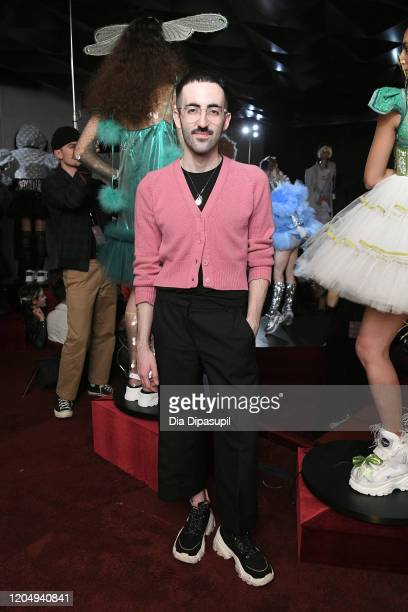 Jackson Wiederhoeft poses at Wiederhoeft Fall / Winter 2020 New York Fashion Week Presentation The Music Box at Sunken Living Room at Spring Studios...