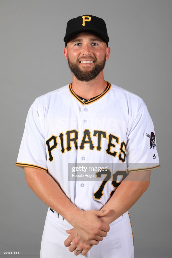 Jackson Williams #79 of the Pittsburgh Pirates poses during Photo Day on Wednesday, February 21, 2018 at LECOM Park in Bradenton, Florida.
