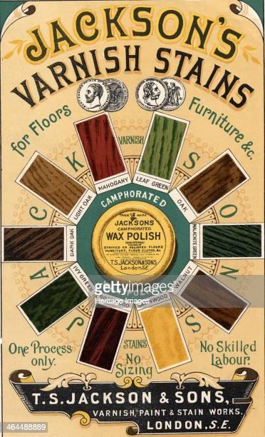 Jackson's Varnish Stains TS Jackson Sons London c1880