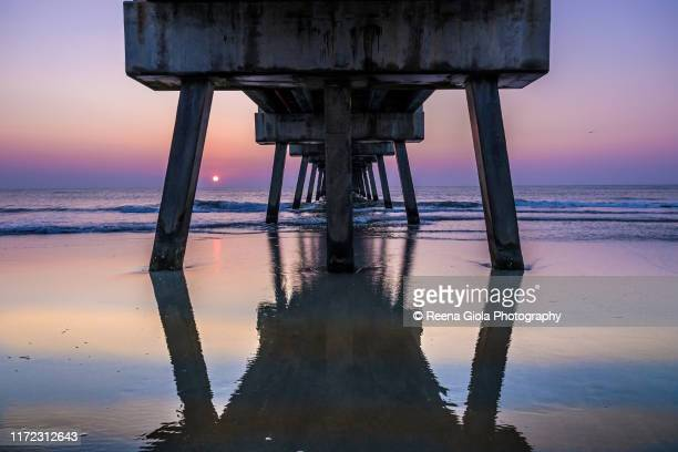 jacksonvile florida pier - jacksonville beach stock pictures, royalty-free photos & images