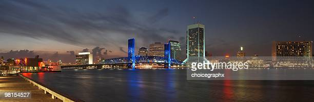 jacksonville florida downtown panoramic - jacksonville florida stock pictures, royalty-free photos & images