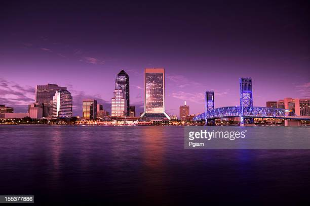 Jacksonville Florida skyline at night