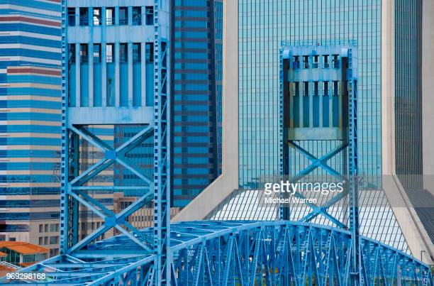 jacksonville, florida, usa bridge - jacksonville florida stock pictures, royalty-free photos & images