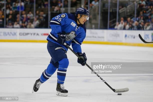 Jacksonville Icemen defenseman Justin Woods during the game between the Florida Everblades and the Jacksonville Icemen on April 20 2018 at the Vystar...
