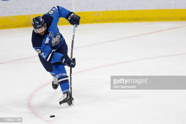 Jacksonville Icemen defenseman Kyle Shapiro during the game between the Florida Everblades and the Jacksonville Icemen on April 20 2018 at the Vystar...
