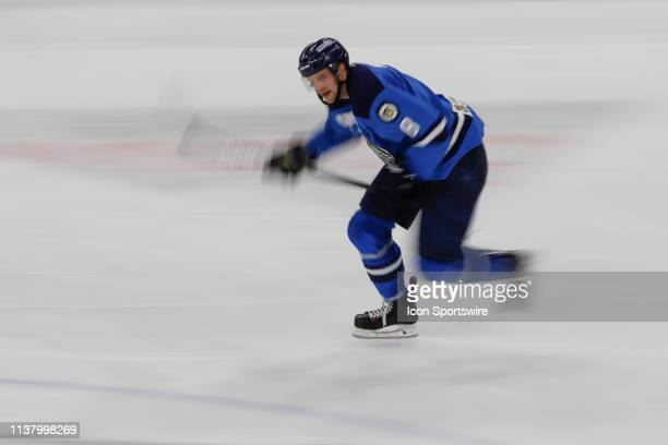 Jacksonville Icemen forward Cam Maclise skates during the game between the Florida Everblades and the Jacksonville Icemen on April 18 2018 at the...