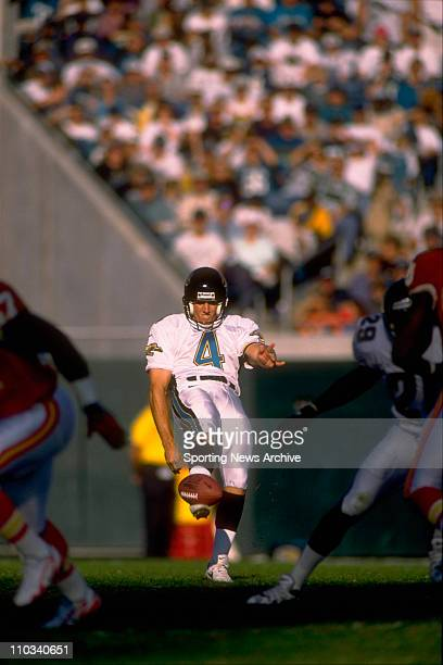 Jacksonville Jaguars Bryan Barker on Nov 9 1997 at Alltel Stadium in Jacksonville Fla
