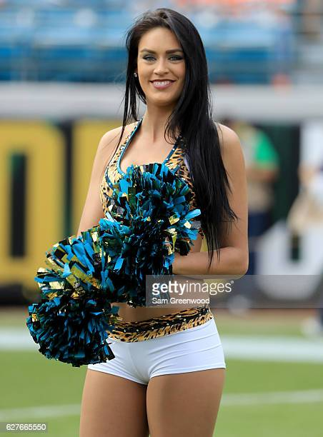 Jacksonville Jaguars cheerleader during the game against the Denver Broncos at EverBank Field on December 4 2016 in Jacksonville Florida