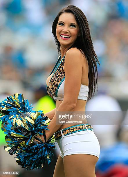 Jacksonville Jaguars cheerleader performs during the game against the New York Jets at EverBank Field on December 9, 2012 in Jacksonville, Florida.