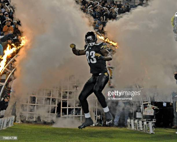 Jacksonville Jaguars defensive end Bobby McCray takes the field before play against the New York Giants on ESPN Monday Night Football Nov 20 2006 in...