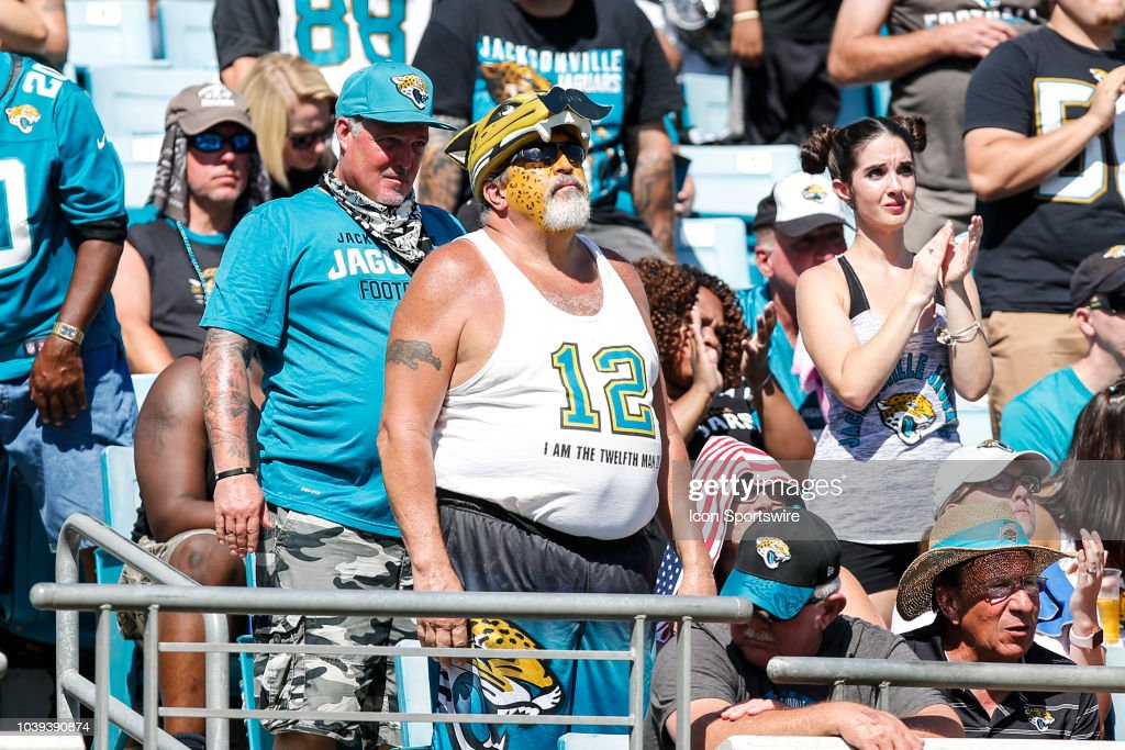 Jacksonville Jaguars fans during the game between the Tennessee