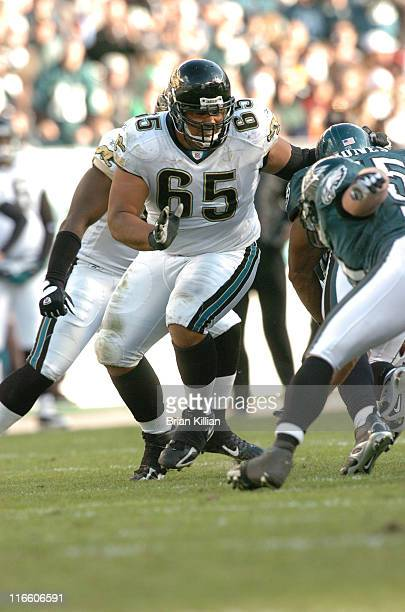 Jacksonville Jaguars guard Chris Naeole in action against the Philadelphia Eagles on Sunday October 29 2006 at Lincoln Financial Field in...