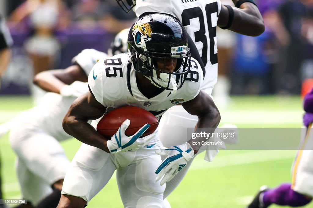 Jacksonville Jaguars Wide Receiver Jaydon Mickens (85) Runs During The  Preseason Game Between The