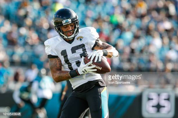 Jacksonville Jaguars wide receiver Rashad Greene catches the ball during the Jacksonville Jaguars Training Camp on August 3 2018 at Finders Homes...