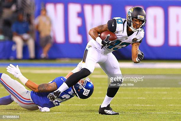 Jacksonville Jaguars wide receiver Rashad Greene during the first quarter of the game between the New York Giants and the Jacksonville Jaguars played...