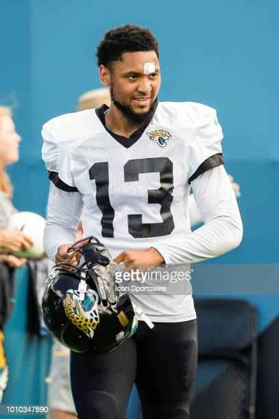 Jacksonville Jaguars wide receiver Rashad Greene during the Jacksonville Jaguars Training Camp on August 1 2018 at Finders Homes Practice Complex at...