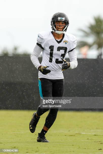Jacksonville Jaguars wide receiver Rashad Greene runs during the Jacksonville Jaguars Training Camp on July 31 2018 at Finders Homes Practice Complex...