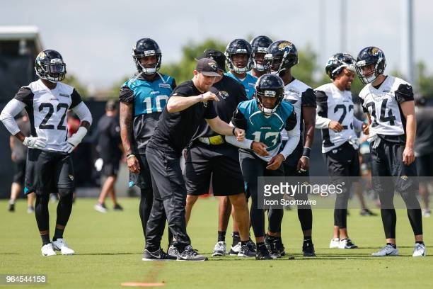 Jacksonville Jaguars wide receiver Rashad Greene works out during the Jaguars OTA on May 31 2018 at Dream Finders Homes Practice Complex in...