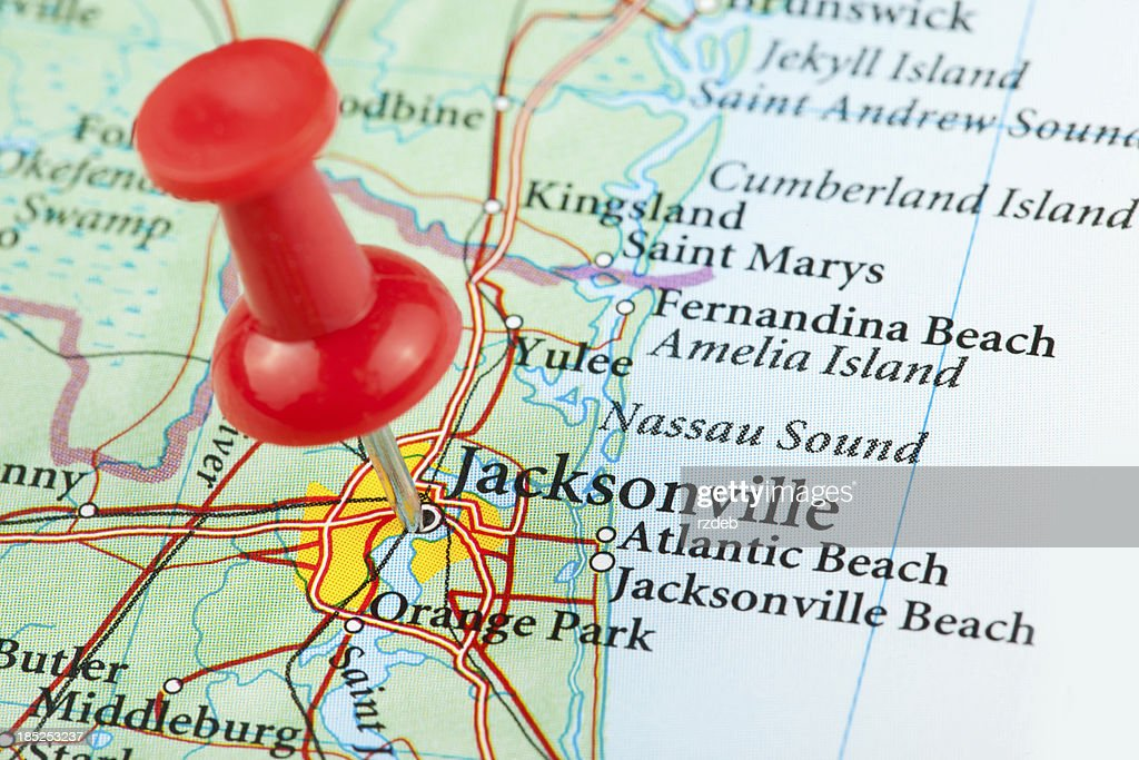 Map Of Florida Usa.Jacksonville Map Florida Usa Stock Photo Getty Images