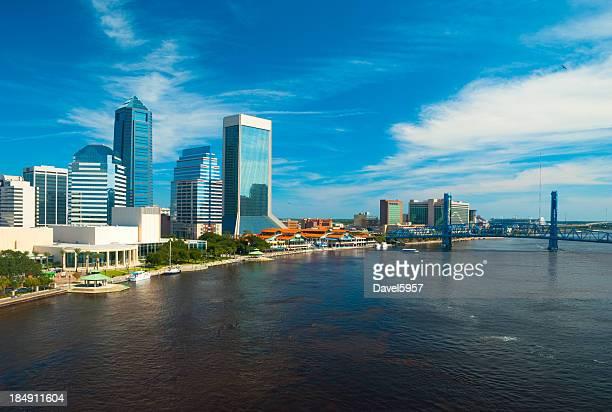 Jacksonville Skyline and Main Street Bridge aerial