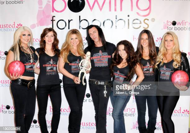 Jacky Belle Ashlynn Yennie Cerina Vincent Sean Decker Brooke Lewis Sarah Butler Allison Kyler participate in the 7th Annual Bowling For Boobies Event...
