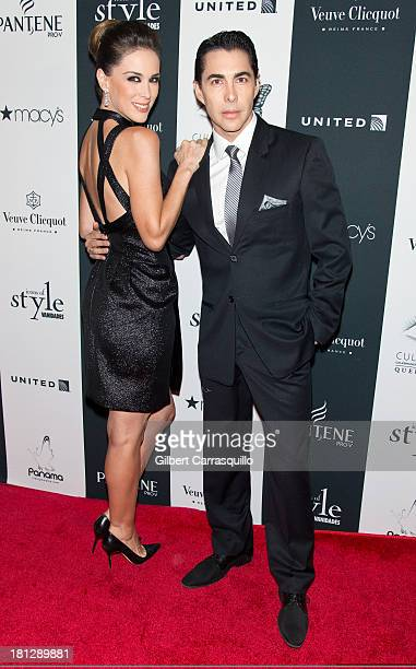 Jacky Bracamontes and Nicolas Felizola attend the 2013 Vanidades Icons of Style gala at Mandarin Oriental Hotel on September 19 2013 in New York City